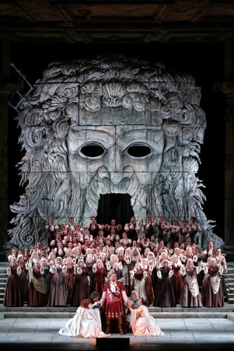 "The final scene from Act II of Mozart's ""Idomeneo."" Photo: Marty Sohl/Metropolitan Opera."