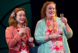 Kelley Rae O'Donnell (l) and Peggy Pharr Wilson (r) in Best Lei'd Plans from the 10 x 10 plays at Barrington Stage 2016.