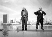 Jane Jacobs (l) and  Robert Moses (r). Fascinating subjects for an opera about a man who destroyed as much as he created.