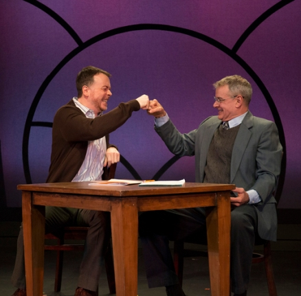 Matt Neely (l) and Andrew May in '04: A muse Of Fire from the 10 x 10 plays at Barrington Stage 2016.