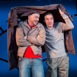 Matt Neely (l) and Andrew May in Turtles and Bulldogs from the 10 x 10 plays at Barrington Stage 2016.