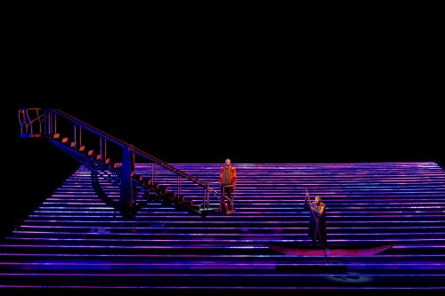 A scene from Kaija Saariaho's L'Amour de Loin, photographed here at the Festival d'opéra de Québec. Photo by Louise Leblanc.