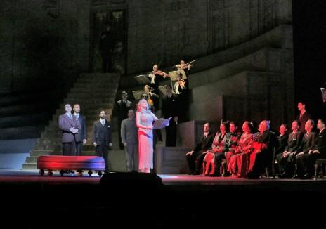 "Kristine Opolais in the title role of Puccini's ""Manon Lescaut"". Photo by Ken Howard/ Metropolitan Opera."