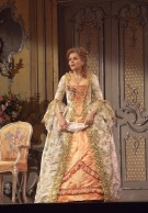 "Renée Fleming as the Marschallin in Strauss's ""Der Rosenkavalier."" Photo: Ken Howard/Metropolitan Opera Taken during the rehearsal on October 6, 2009 at the Metropolitan Opera in New York City."