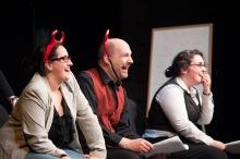 Theatre Project in 2012: Alexia Trainor, Tony Pallone, and Erin Ouellette. Photo by Enrico Spada