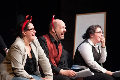 Theatre Project in 2012: Alexia Trainor, Tony Pallone, and Erin Ouellette. Photo by Enrico Spada