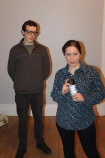 Jerry Greene as Adam and Leah Marie Parker as Evelyn.
