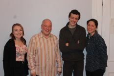 (from left to right) Alanna Bassett as Jenny, director, Matthew T. Teichner , Jerry Greene as Adam and Leah Marie Parker as Evelyn.