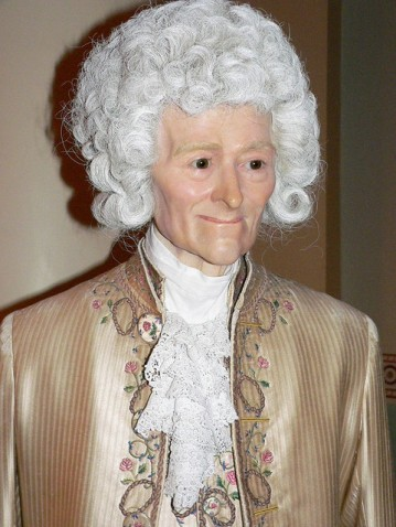 Voltaire lives. In wax.