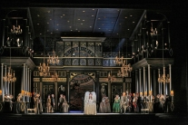 A scene from Donizetti's Roberto Devereux. Photo by Ken Howard/Metropolitan Opera.