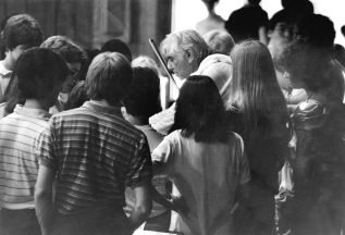 Leonard Bernstein taught many members of today's Symphony Orchestra while at BUTI.