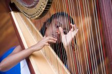 The harp looks easy to master, but it is a challenging instrument.