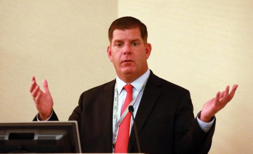 """Mayor Walsh says that Boston Creates is not his vision: """"It's your vision.""""   Photo by Matt West."""