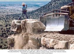 Charles Ross constructing Star Axis near Las Vegas, New Mexico 1976.