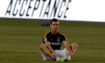Robbie Rogers is out there, pretty much alone.