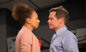 Tamara Tunie and Michael Hayden as Scott Connor. Photos by Scott Barrow.