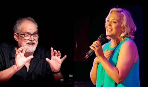 Bill Finn (l) and Sally Wilfert (r) will be on  hand to showcase songs by upcoming show tune writers. Photo(s) by Stephen Sorokoff.