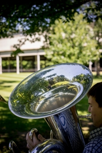 A Tanglewood Fellow practices. Photo by Marco Borggreve.