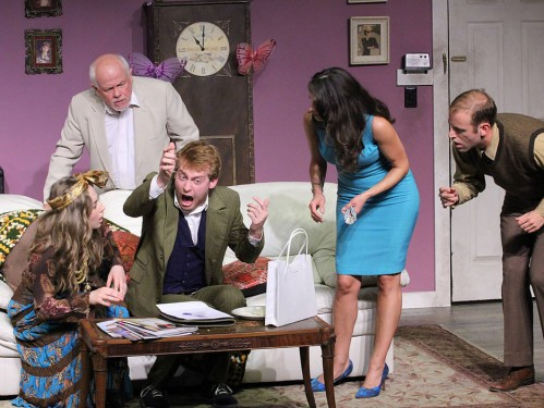 "Scene from 2014's ""You Should be so Lucky"" at the Theater Barn."