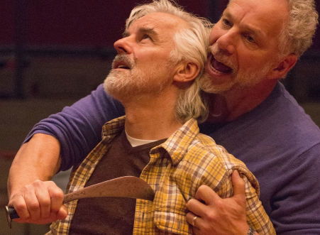 John Hadden and Jonathan Epstein in rehearsal for 'The Merchant of Venice'. Photo by Ava G. Lindenmaier.