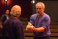 Erick Avari and Jonathan Epstein. in rehearsal for 'The Merchant of Venice' .Photo by Ava G. Lindenmaier.