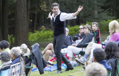 Last year at the Dell at the Mount, Luke Reed gave us a memorable Hamlet. Photo by Elizabeth Aspenlieder.