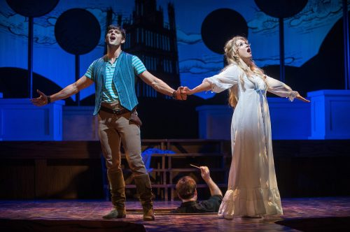 Kyle Dean Massey and Scarlett Strallen. Photo by Kevin Sprague.