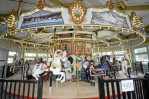 Gillian Jones from the Berkshire Eagle took this picture which shows the carousel in all its hand-crafted glory.