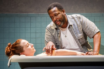 (L to R): Katy Sullivan and Wendell Pierce in Cost of Living. Photograph Daniel Rader.