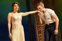 (L to R): Marisa Tomei and Will Pullen in The Rose Tattoo. Photograph Daniel Rader.
