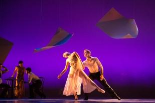 "Chloe Felesina and Daniel Mayo of BalletX in ""Sunset, o639 Hours""; photo Hayim Heron"