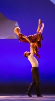 "Gary W. Jeter II and Skyler Lubin of BalletX in ""Sunset, o639 Hours""; photo Hayim Heron."