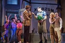 The cast of Little Shop of Horrors at the Colonial Theatre, photos by Emma K. Rothenberg-Ware.