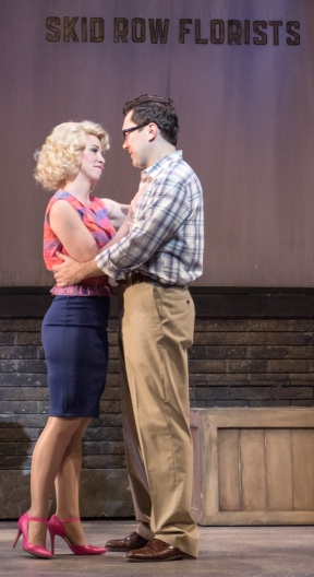 Lindsay Nicole Chambers and Stanley Bahorek in Little Shop of Horrors, 2016. Photo by Emma K. Rothenberg-Ware.