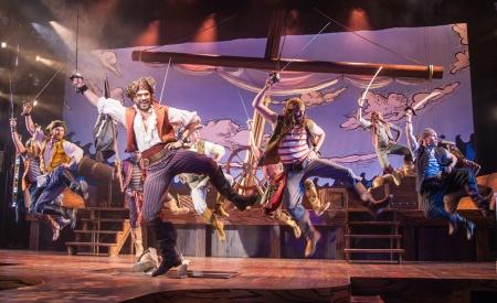 Will Swenson & the pirates ensemble. Photo by Kevin Sprague.