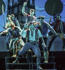 Will Swenson & and ensemble in Pirates of Penzance. Photo by Kevin Sprague.