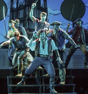 Will Swenson & pirates ensemble. Photo by John Rando.