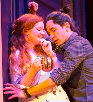 Mary Wiseman and Justin Long. Photograph T. Charles Erickson.