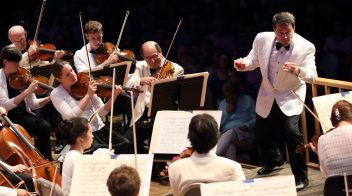 Jacques Lacombe leads the BSO on Opening Night at Tanglewood (Hilary Scott photo)