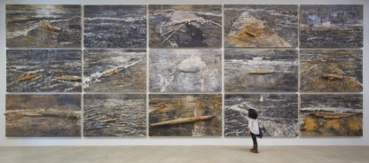Anselm Kiefer's large paintings: oil, emulsion, acrylic, lead and mixed media on canvas. From the Hall Collection. Photo: Arthur Evans.