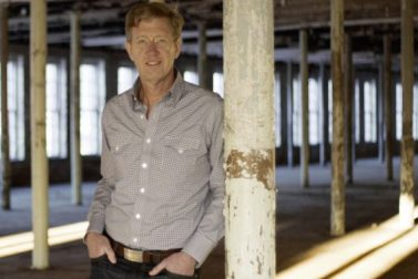 MASS MoCA Director Joseph Thompson in the museum's Building 6.
