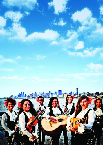 Mariachi Flor de Toloache commands the courtyard at MASS MoCA on Saturday, August 6, at 8pm.