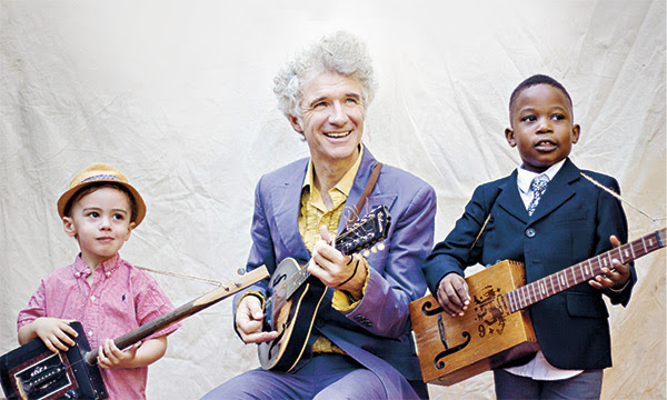 Dan Zanes with two future Lead Belly's.