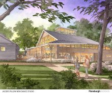 Artist's rendering of  the new building.