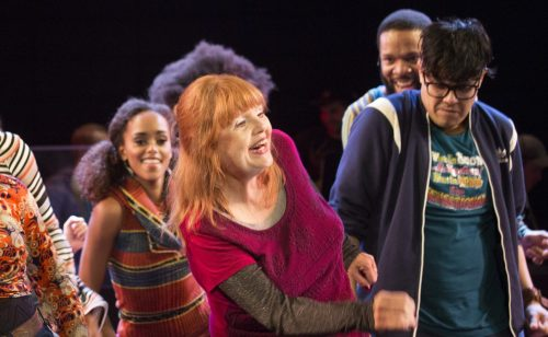 Annie Golden and company of Broadway Bounty Hunter. Photo by Scott Barrow.