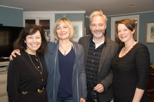 (l to r ) The Berkshire Theatre Group's Artistic Director Kate Maguire, actors Corinna May and David Adkins, and WAM co-founder Kristen van Ginhoven.
