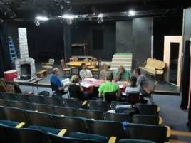Cast members in rehearsal in the new Mainstage.