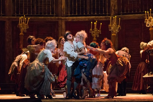 "Simon Keenlyside in the title role of Mozart's ""Don Giovanni."" Photo: Marty Sohl/Metropolitan Opera"