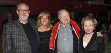At the Berkshire Thaetre Awards: (l to r) William Finn, Elizabeth Aspenlieder, Larry Murray and Debra Jo Rupp.
