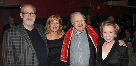 At the Berkshire Theatre Awards: (l to r) William Finn, Elizabeth Aspenlieder, Larry Murray and Debra Jo Rupp.